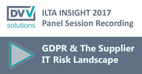 ILTA Insight Supplier IT Risk Recording