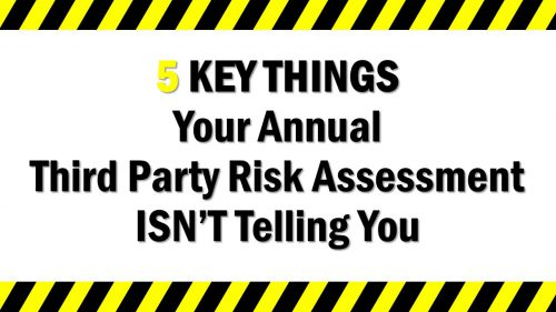 Annual Third Party Risk Assessment gap