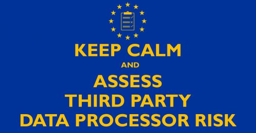 Keep calm and assess third party GDPR poster