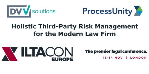 DVV Solutions ProcessUnity ILTACON Europe 2019