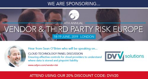 CEFPRO Vendor and Third party Risk Europe 2019 TPRM