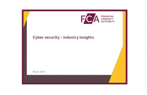 FCA Cyber Security Industry Insights March 2019 Third Party Risk
