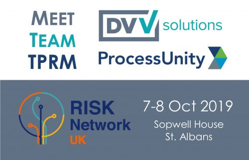 UK Risk Network 2019 Third Party Risk DVV Solutions ProcessUnity Banner v2