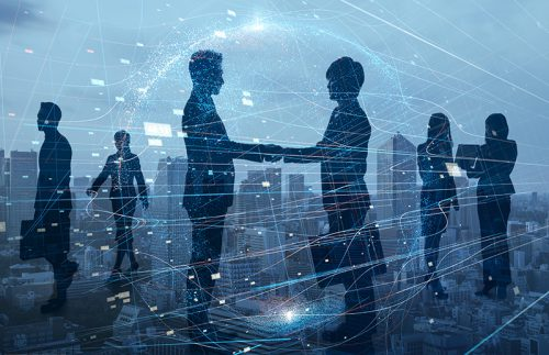 M&A Cyber Security Handshake