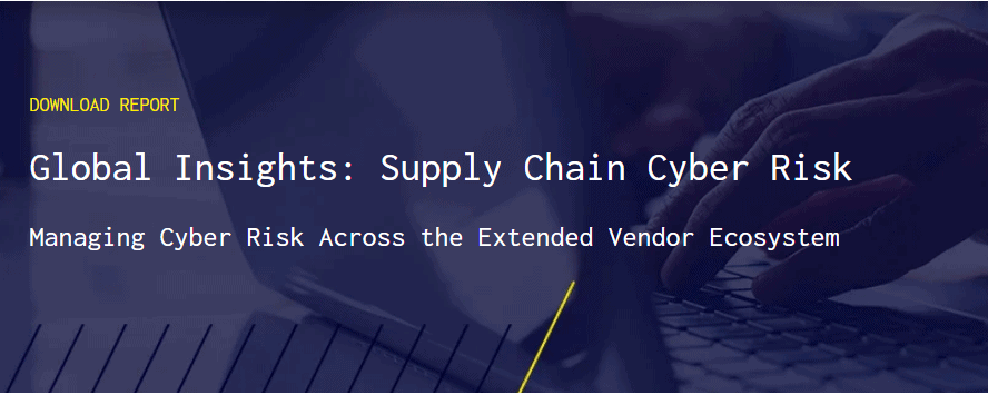BlueVoyant research - Global Insights Cyber Risk in Supply Chain Report banner