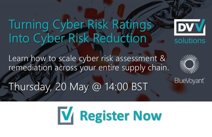 Third Party Cyber Risk Webinar 20th May Banner