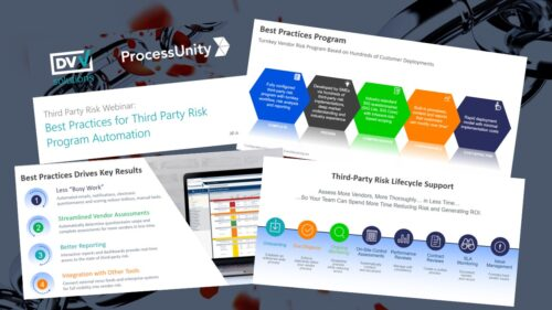 Best Practices for Third Party Risk Program Automation slides