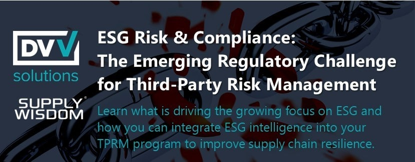 ESG Risk and Compliance Webinar Replay Banner